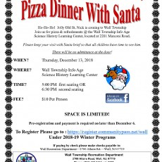 Things to do in Southern Monmouth, NJ: PIZZA WITH SANTA