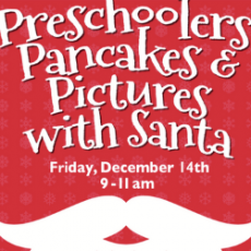 Preschoolers, Pancakes & Pictures with Santa