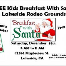 FREE Breakfast with Santa for Lakeside Youth