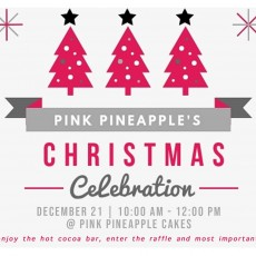 Things to do in Myrtle Beach, SC for Kids: Pink Pineapple's First Annual Christmas Celebration, Pink Pineapple Cakes