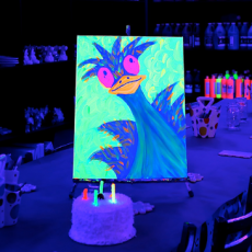 Glow in the Dark Canvas Painting Party