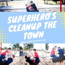 Superheroes Clean Up the Town