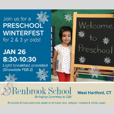 Things to do in West Hartford-Farmington Valley, CT for Kids: FREE Preschool Winterfest, Renbrook School
