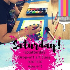 Things to do in Las Cruces, NM for Kids: Splatterday! Drop-off-Pop-in Art Class , Wet Paint Art Studio