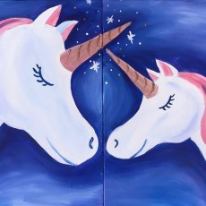 Things to do in Castle Rock-Parker, CO	 for Kids: Mommy and Me Unicorn Set, Painting with a Twist - Denver, CO - Lone Tree