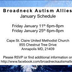Things to do in Annapolis-Severna Park, MD for Kids: Jan 25 Hangout, Broadneck Autism Allies