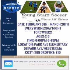 Things to do in Worcester, MA for Kids: Winter II Soccer - Lil Kickers, Young Starz Soccer - Y.S.S